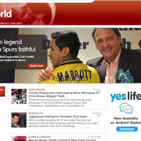 Malaysia Spurs in the media : YES WORLD